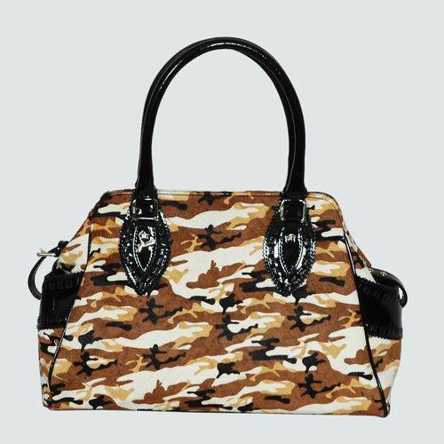 Fendi 5370 Apricot horsehair Tote Bag With Gold Hardware