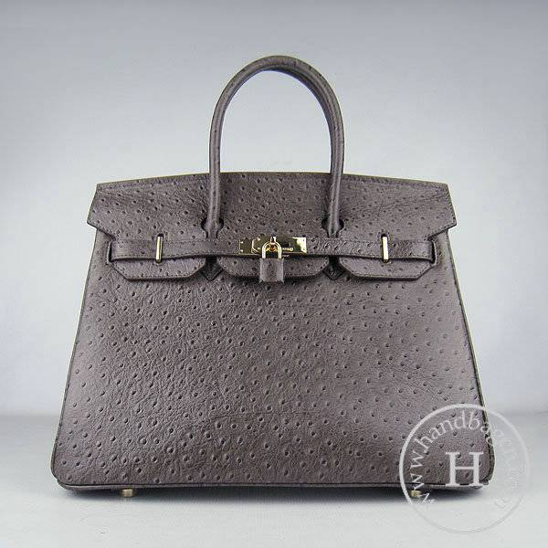 Hermes Birkin 35cm 6089 Dark Coffee Ostrich Leather With Gold Hardware