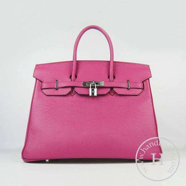 Hermes Birkin 35cm 6089 Peach Red Calfskin Leather With Silver Hardware