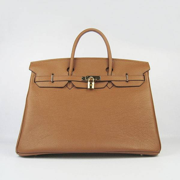 Hermes Birkin 40cm 6099 Light Coffee Calfskin Leather With Gold Hardware