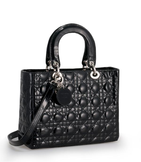Christian Dior 9928 Patent Leather Small Tote Bag