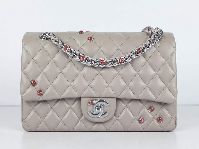 2012 Chanel Classic Flap Bag 49455 Pink