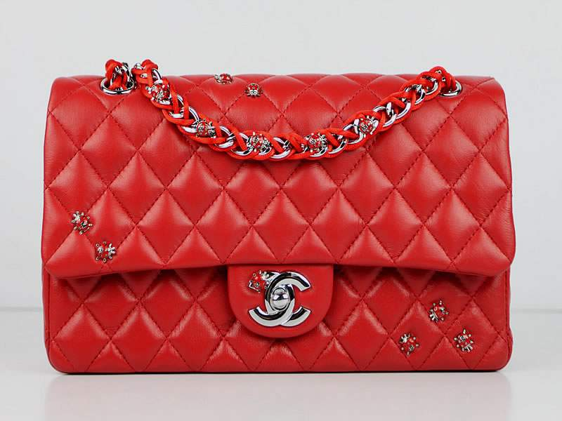 2012 Chanel Classic Flap Bag 49455 Red