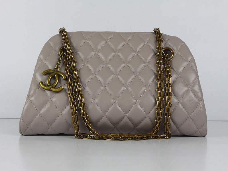 2012 New Arrival Chanel Mademoiselle Bowling Bag 49853 Pink Purple Lambskin Leather