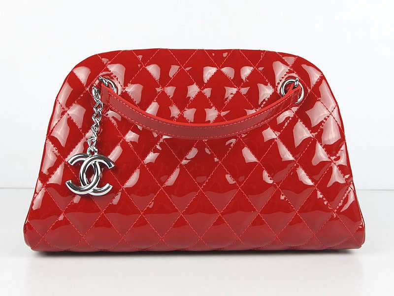 2012 New Arrival Chanel Mademoiselle Bowling Bag 49853 Red Shiny