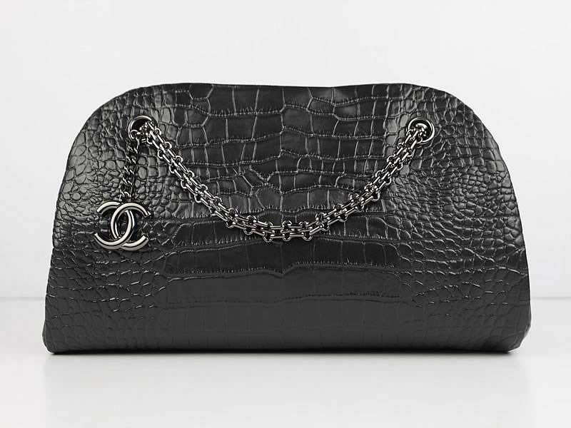 2012 New Arrival Chanel Mademoiselle Bowling Bag 49854 Blacke Cowhide Leather