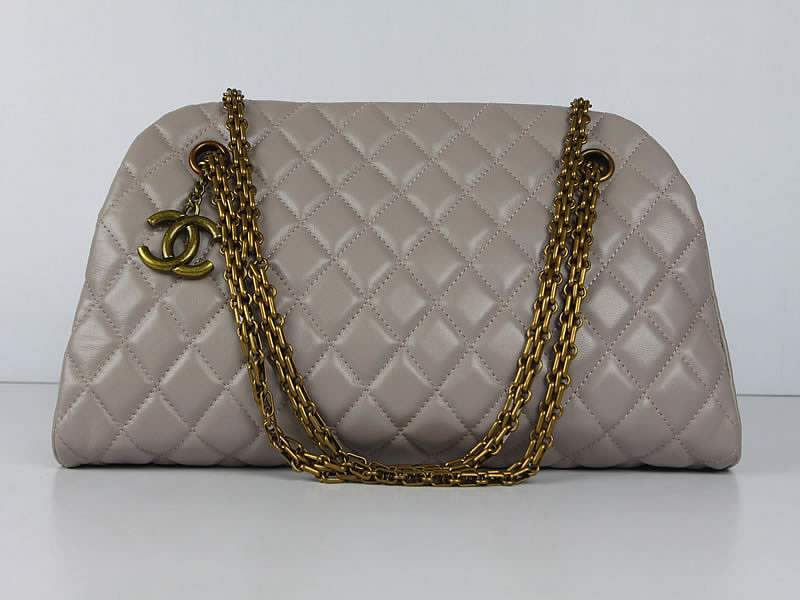 2012 New Arrival Chanel Mademoiselle Bowling Bag 49854 Pink Purple Lambskin Leather