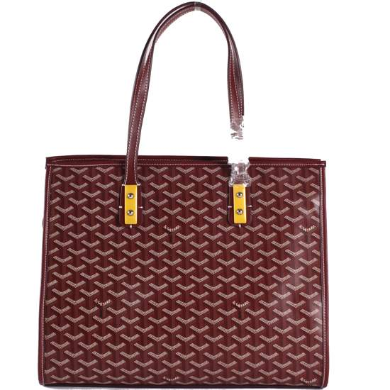 Goyard wheat tote handbag 2391 Wine Red