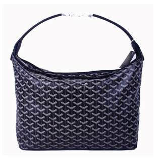 Goyard Fidji Bag with Leather Trim 4590 Black
