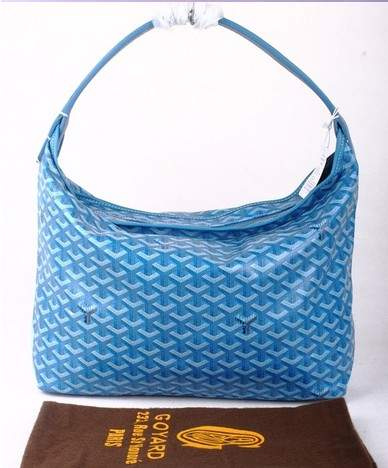 Goyard Fidji Bag with Leather Trim 4590 blue
