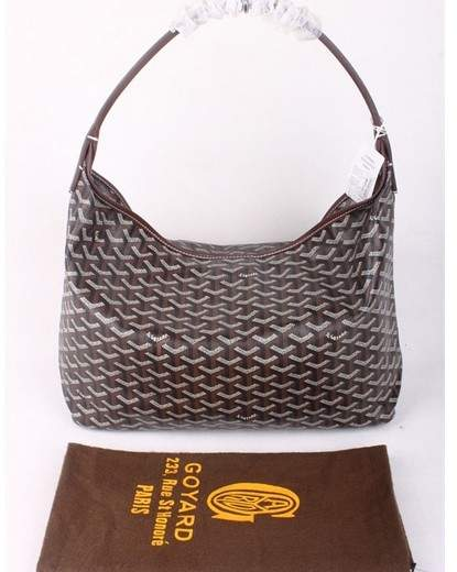 Goyard Fidji Bag with Leather Trim 4590 coffee