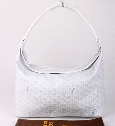 Goyard Fidji Bag with Leather Trim 4590 cream