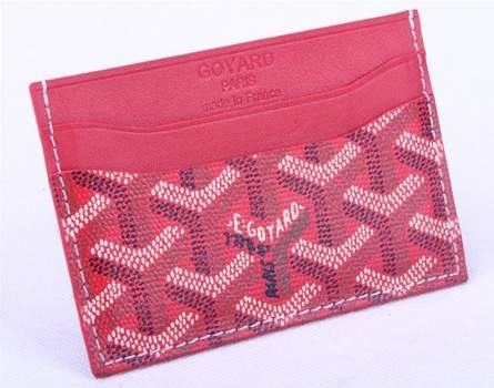 Goyard Canvas and Leather Card Holder 020090 peach red