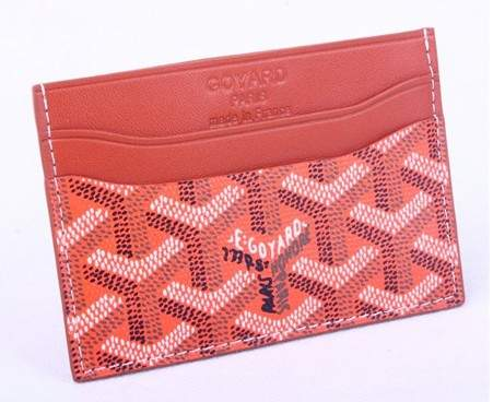 Goyard Canvas and Leather Card Holder 020090 red