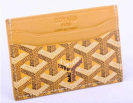 Goyard Canvas and Leather Card Holder 020090 yellow