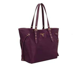 2014 Prada fabric shoulder bag BL1563 purple