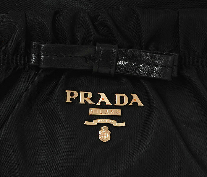 2014 Prada fabric shoulder bag BN1560 black