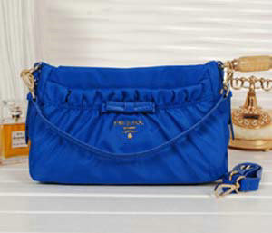 2014 Prada fabric shoulder bag BN1560 blue