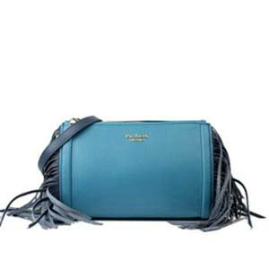 2014 Prada  grained calf leather shoulder bag BT6043 royalblue