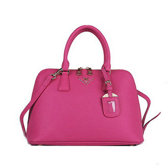 2014 Prada Saffiano Calf Leather Two Handle Bag BL0837 rosered