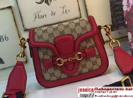 Gucci Lady Web Original GG Canvas Shoulder Small Bag 384821 Red