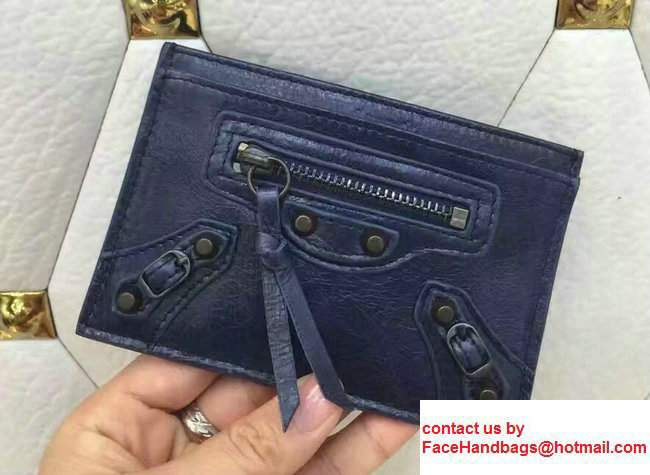 Balenciaga Credit Card Holder Dark Blue