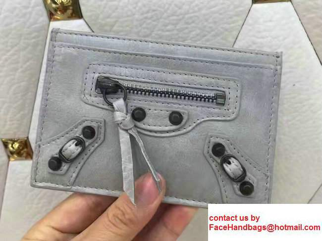 Balenciaga Credit Card Holder Light Gray