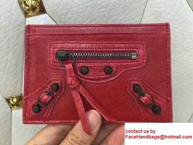 Balenciaga Credit Card Holder Red