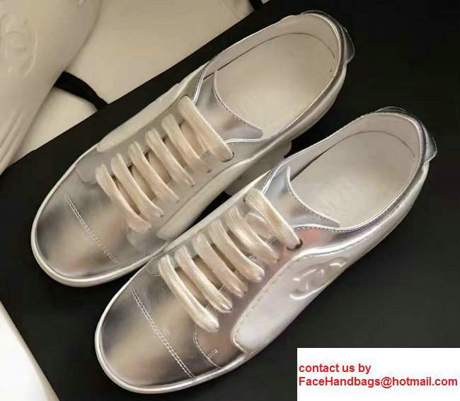 Chanel Sneakers G32719 Silver/White 2017