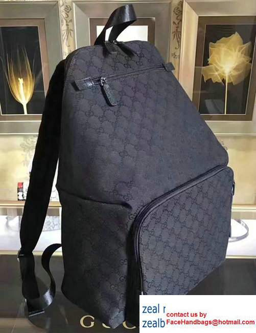 Gucci GG Supreme Canvas Backpack354667 Dark Blue