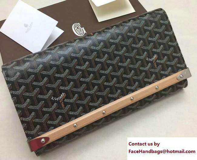 Goyard Monte Carlo Bois Clutch Bag Black