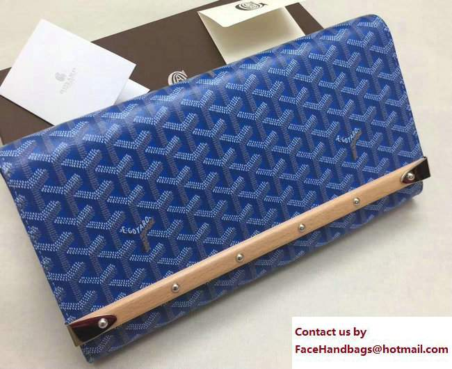 Goyard Monte Carlo Bois Clutch Bag Blue