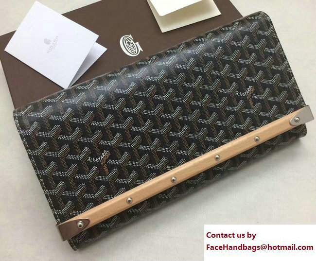 Goyard Monte Carlo Bois Clutch Bag Brown