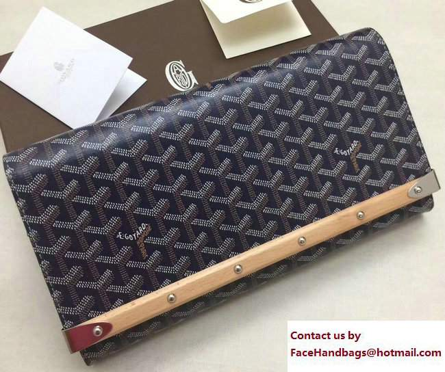 Goyard Monte Carlo Bois Clutch Bag Dark Blue