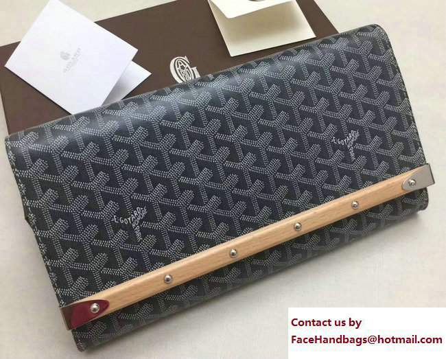 Goyard Monte Carlo Bois Clutch Bag Gray