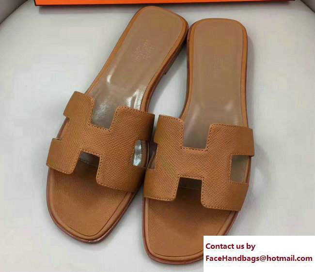 5e94950d2f82 Hermes Oran Slipper Sandals in Epsom Calfskin Blue  Hermes-Oran ...