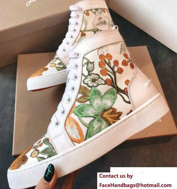 Christian Louboutin Floral Sneakers 01 2018
