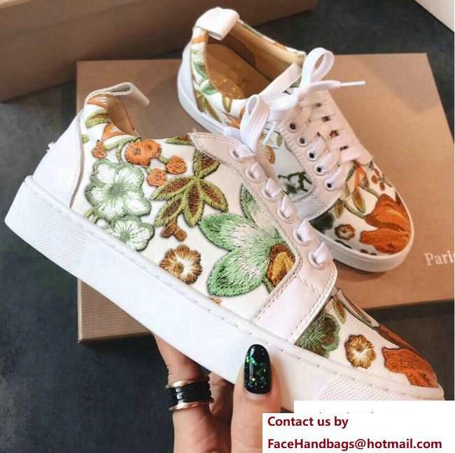 Christian Louboutin Floral Sneakers 02 2018