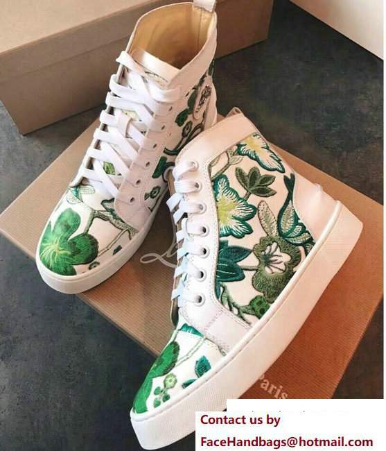 Christian Louboutin Floral Sneakers 07 2018