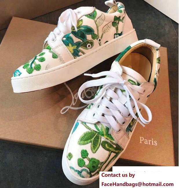 Christian Louboutin Floral Sneakers 08 2018