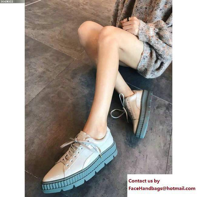 newest 6a7c2 4688c Fenty Puma Pointy Creeper Patent Shoes Beige by Rihanna 2018 ...