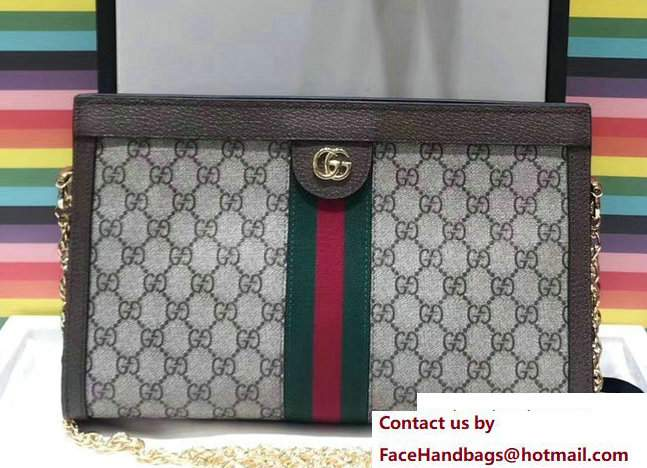 Gucci Structured Shape Ophidia GG Medium Shoulder Bag 503876 2017
