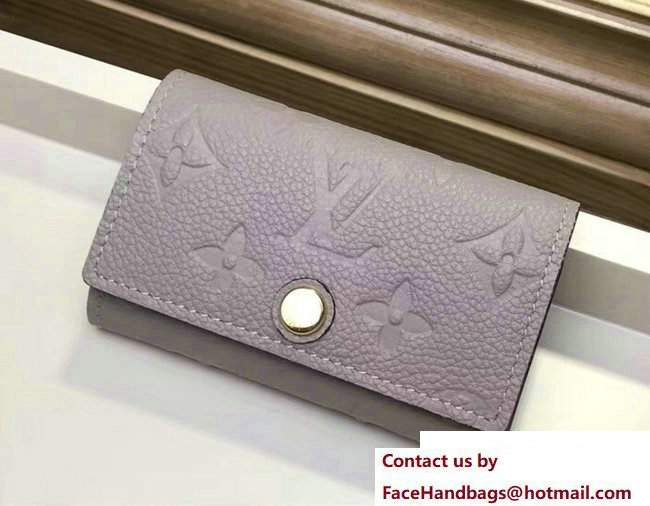 Louis Vuitton Monogram Empreinte 6 Key Holder Gray