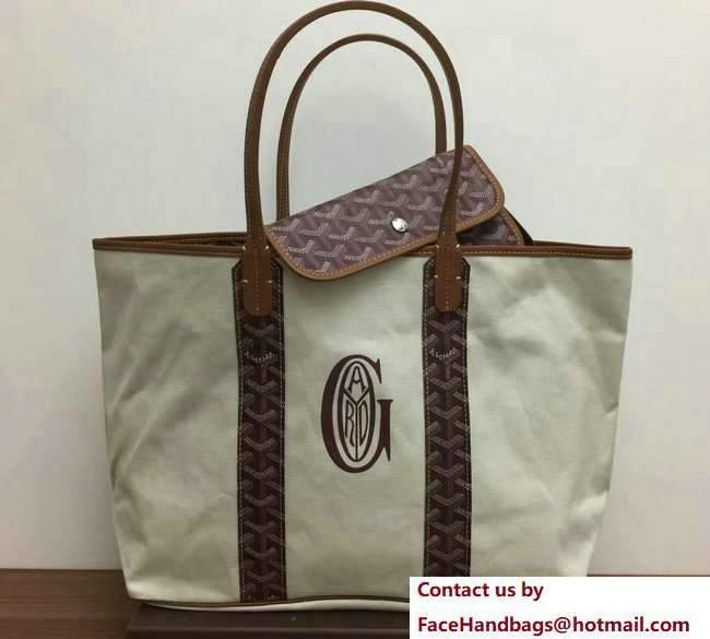 Goyard Logo Print Saint Louis Pertuis Reversible Tote Beach PM/GM Bag Burgundy