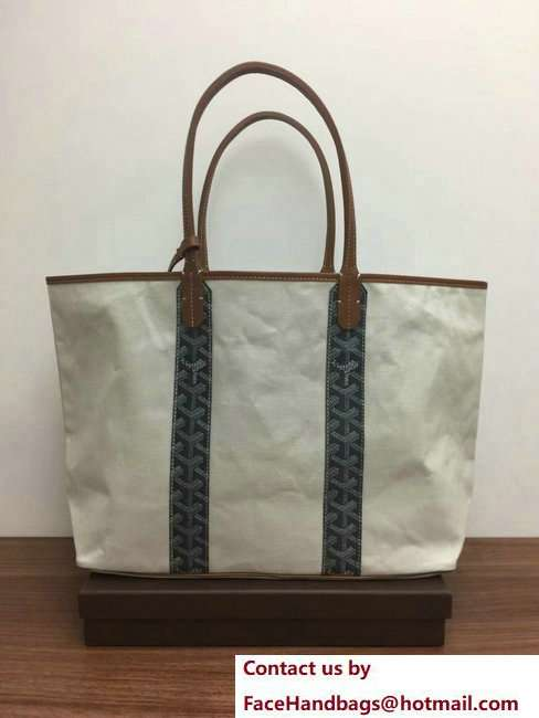 Goyard Logo Print Saint Louis Pertuis Reversible Tote Beach PM/GM Bag Gray