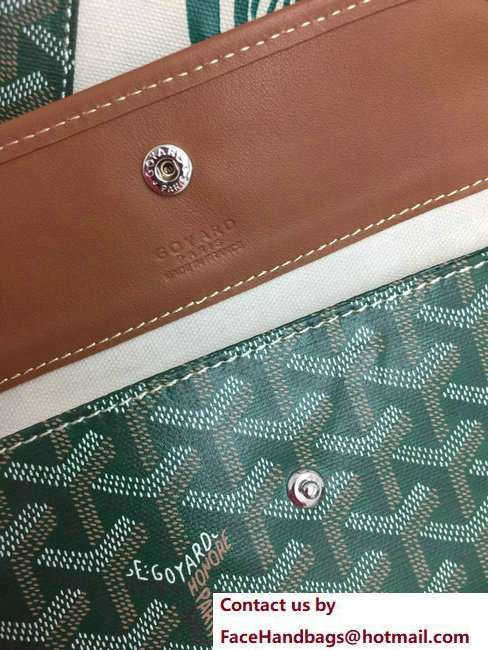 Goyard Logo Print Saint Louis Pertuis Reversible Tote Beach PM/GM Bag Green
