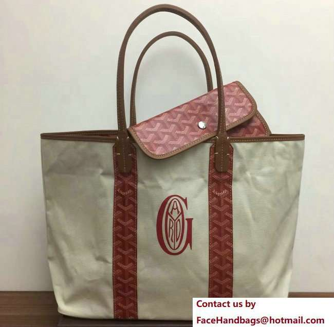 Goyard Logo Print Saint Louis Pertuis Reversible Tote Beach PM/GM Bag Red