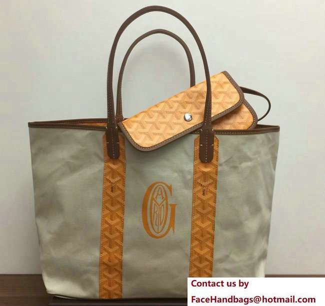 Goyard Logo Print Saint Louis Pertuis Reversible Tote Beach PM/GM Bag Yellow