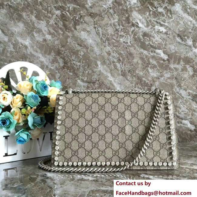 Gucci Dionysus Bow and Crystal Shoulder Small Bag 400249 2018