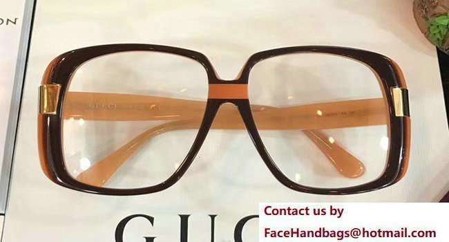 Gucci Oversize Round-Frame Acetate Sunglasses 506217 03 2018